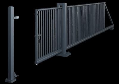 Brama przesuwna PI 95 - ręczna