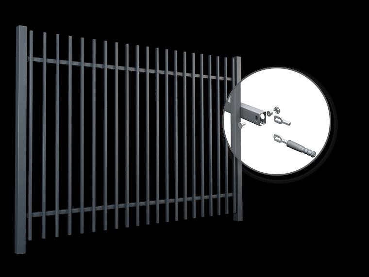 Brama przesuwna PI 130 - z napędem w niskiej zabudowie