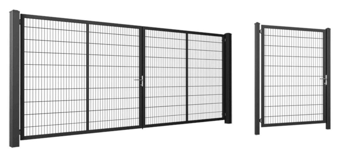 Brama przesuwna PI 130 - z napędem w wysokiej zabudowie